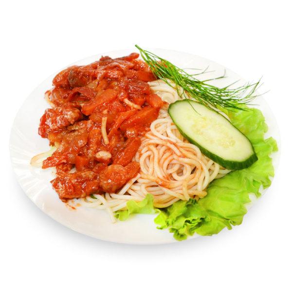 Свинина с овощами - заказ и доставка в Омске