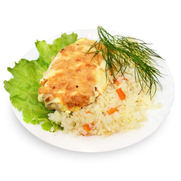 Курица запечённая с овощами - заказ и доставка в Омске