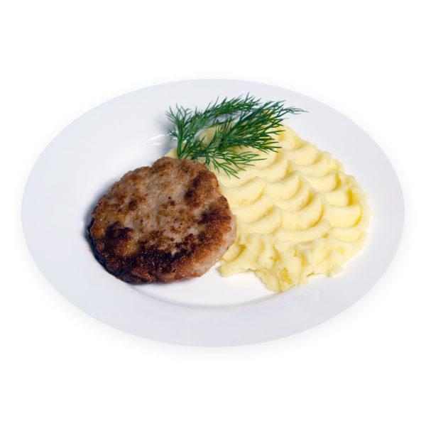 Картофельное пюре с котлетой - заказ и доставка в Омске